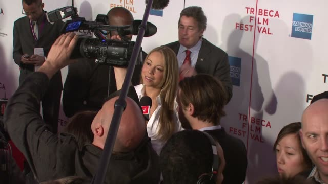 mariah carey at the 7th annual tribeca film festival tennessee premiere at borough of manhattan community college / tribeca performing arts in new... - community college stock videos & royalty-free footage