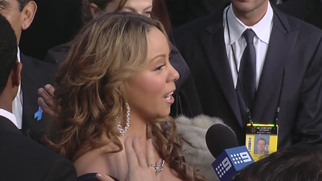 mariah carey at the 82nd annual academy awards arrivals part 2 at los angeles ca - hoop earring stock videos and b-roll footage