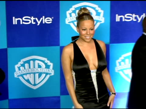 mariah carey at the instyle/warner brothers golden globes party at the beverly hilton in beverly hills california on january 16 2006 - mariah carey stock videos and b-roll footage