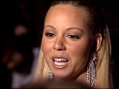 Mariah Carey at the Mariah Carey Blue Diamond Party at Les Deux Caf in Hollywood California on January 13 2003