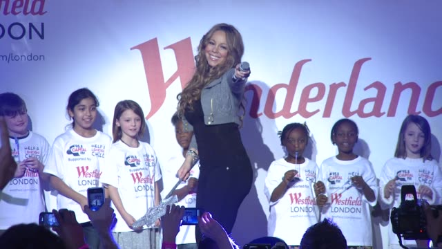 mariah carey at the mariah carey in london at london england - mariah carey stock-videos und b-roll-filmmaterial