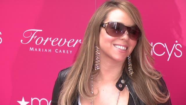 mariah carey at the mariah carey showcases her new fragrance 'forever' at macy's herald square at new york ny. - mariah carey stock videos & royalty-free footage