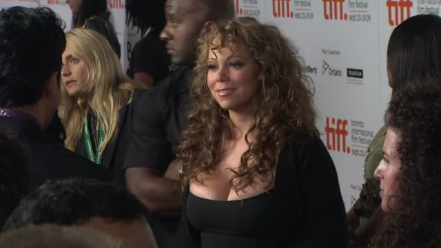 mariah carey at the 'precious based on the novel 'push' by sapphire' premiere at toronto on - precious gemstone stock videos & royalty-free footage