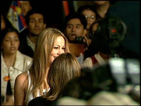mariah carey at the 'seven years in tibet' premiere at cineplex odeon in century city california on october 6 1997 - mariah carey stock-videos und b-roll-filmmaterial