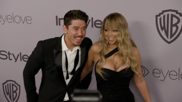 mariah carey brian tanaka at the warner bros pictures and instyle host 19th annual postgolden globes party at the beverly hilton hotel on january 7... - mariah carey stock-videos und b-roll-filmmaterial