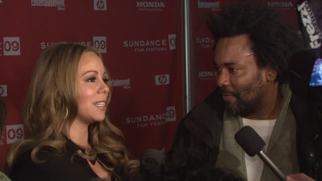 mariah carey discusses what she enjoyed about working with lee daniels at the 2009 sundance film festival 'push' premiere at park city ut - mariah carey stock videos and b-roll footage