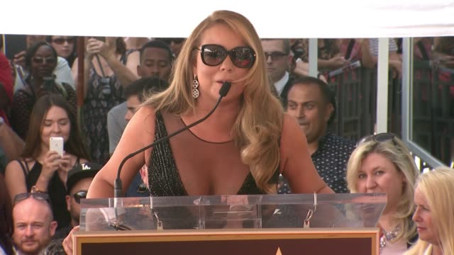 clean mariah carey honored with star on the hollywood walk of fame on august 05 2015 in hollywood california - mariah carey stock-videos und b-roll-filmmaterial