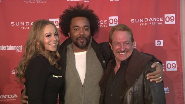 mariah carey lee daniels and gary magness at the 2009 sundance film festival 'push' premiere at park city ut - mariah carey stock videos and b-roll footage