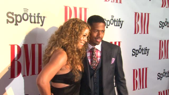 mariah carey nick cannon at bmi urban awards 2012 on 9/7/12 in los angeles ca - nick cannon stock videos & royalty-free footage