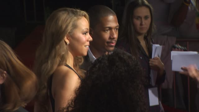 mariah carey nick cannon at the afi fest 2009 'precious based on the novel 'push' by sapphire' premiere at hollywood ca - nick cannon stock videos & royalty-free footage