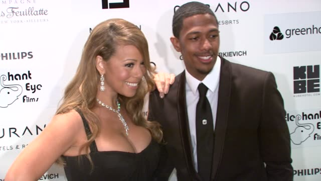 mariah carey nick cannon at the cannes film festival 2009 greenhouse precious party at cannes - mariah carey stock-videos und b-roll-filmmaterial