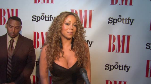 mariah carey on being honored at bmi urban awards 2012 on 9/7/12 in los angeles ca - mariah carey stock-videos und b-roll-filmmaterial