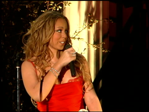 mariah carey on her new cd at the mariah carey promotion of her new album 'the emancipation of mimi' at rappongi hills arena in tokyo on march 31 2005 - mariah carey stock-videos und b-roll-filmmaterial