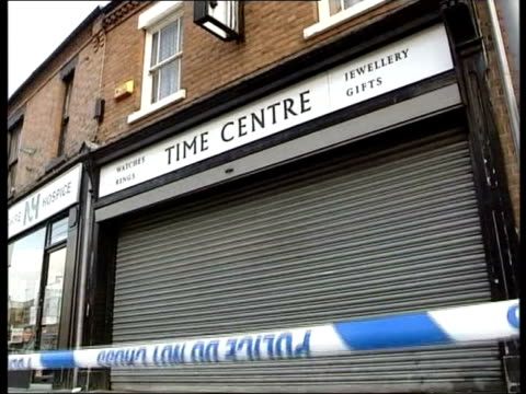 string of failings by probation service blamed for jeweller killing; tx 1.10.2003 england: nottingham: ext gv 'time centre' jewellers where marian... - probation stock videos & royalty-free footage