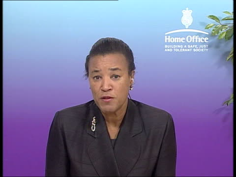 string of failings by probation service blamed for jeweller killing; london: baroness scotland interview sot - tagging is only as good as those who... - probation stock videos & royalty-free footage
