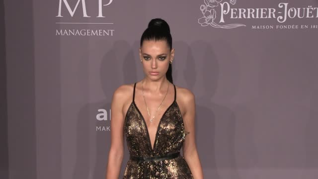 Marianne Fonseca Maryam Maquillage Melissa Bolona and more on the red carpet of the 2018 amfAR Gala New York at Cipriani Wall Street New York City NY...