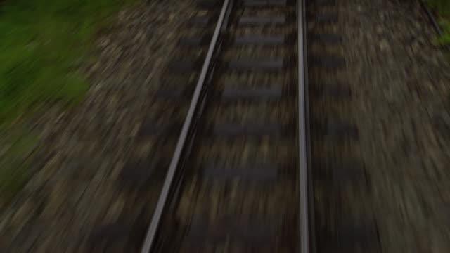 mariazellerbahn - alpine train and tracks close up in lower austria - オーストリア点の映像素材/bロール