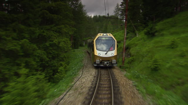 Mariazellerbahn - Alpine train goes in and out of tunnels in Lower Austria