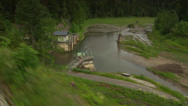 stockvideo's en b-roll-footage met mariazellerbahn - alpine train on the tracks in lower austria 02 - lower austria