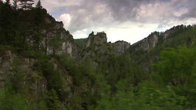 mariazellerbahn - alpine views in lower austria - train point of view stock videos & royalty-free footage