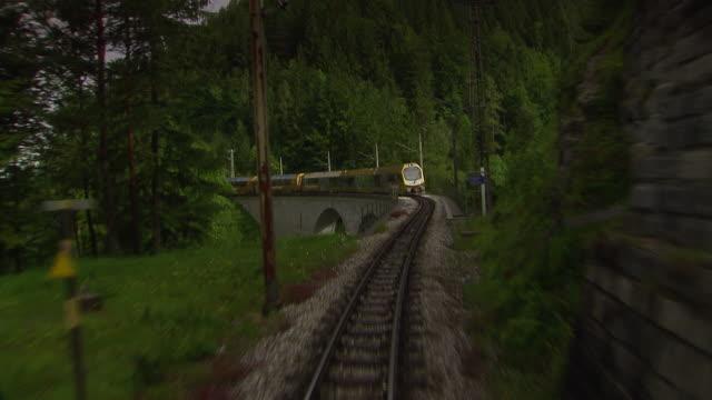 Mariazellerbahn - Alpinetrain goes over a bridge in Lower Austria