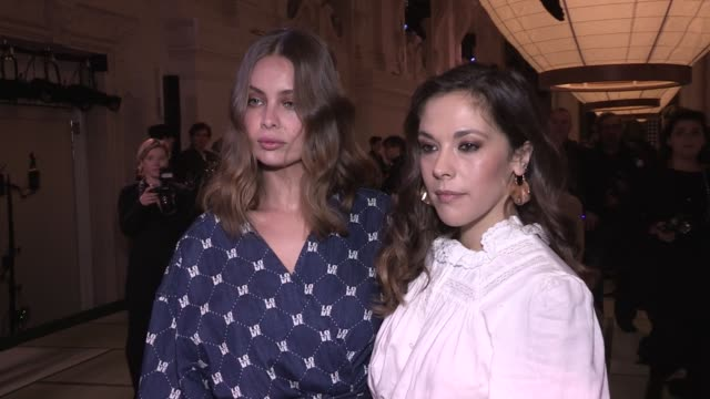 Marie Ange Casta Alysson Paradis front row for the HM Fashion Show in Paris Paris France on Wednesday February 28 2018