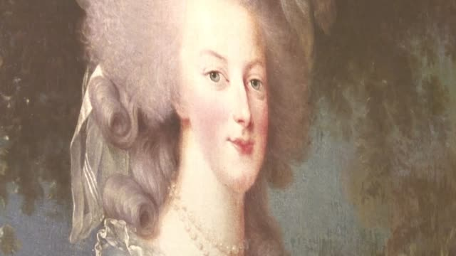 marie antoinette may have lived centuries ago but she remains a fascinating figure in popular culture - marie antoinette stock videos and b-roll footage