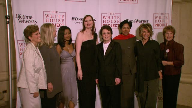 marie c wilson, nancy hult ganis, keke palmer, geena davis, billie jean king, indra nooyi, sheila nevins, and guest at the white house project honors... - ジーナ デイヴィス点の映像素材/bロール