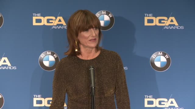 interview marie cantin at 69th annual directors guild of america awards in los angeles ca - directors guild of america awards stock videos & royalty-free footage