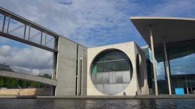 Marie Elisabeth Lueders Building and Spree River, Berlin, Germany