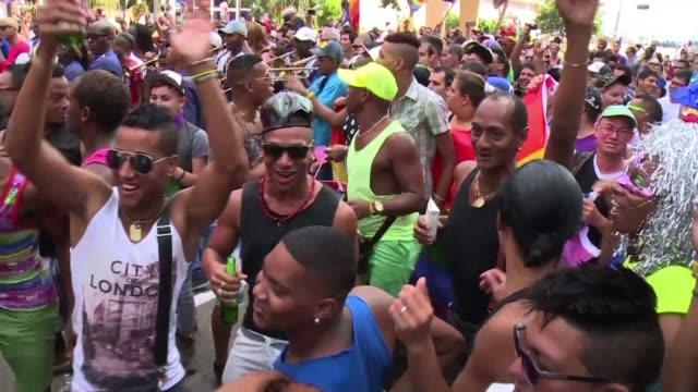 mariela castro hija del presidente cubano raul castro y principal activista por los derechos de los homosexuales en el pais participo este sabado en... - hija stock videos & royalty-free footage