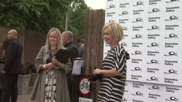 mariella frostrup at the serpentine gallery summer party at london england. - mariella frostrup stock videos & royalty-free footage