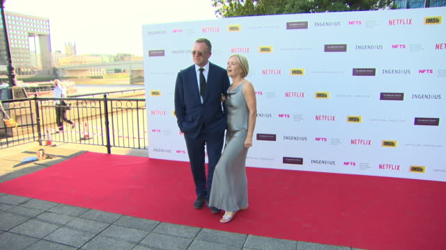 mariella frostrup jason mccue at the national film and television school annual gala event at old billingsgate on june 26 2018 in london england - jason mccue stock videos and b-roll footage