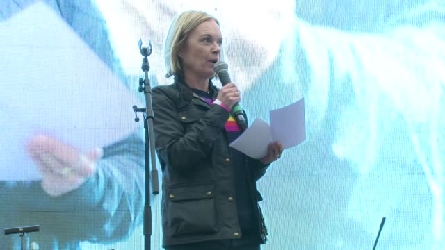mariella frostrup on the movie, london and the director at trafalgar square on february 26, 2017 in london, england. - mariella frostrup stock videos & royalty-free footage