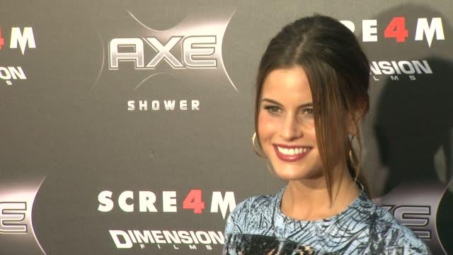 vídeos y material grabado en eventos de stock de marielle jaffe at the axe shower presents the world premiere of 'scream 4' at hollywood ca. - scream named work