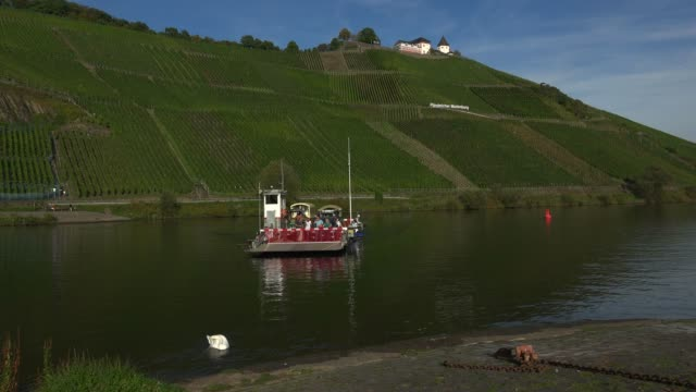 marienburg castle near puenderich, moselle river, rhineland-palatinate, germany, europe - ローカルな名所点の映像素材/bロール