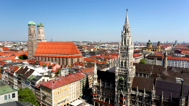 marienplatz in munich, panning - panoramic stock videos & royalty-free footage