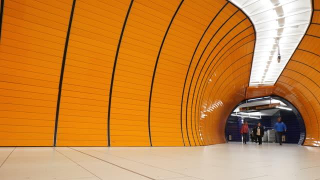 marienplatz metro at munich - pedestrian stock videos & royalty-free footage