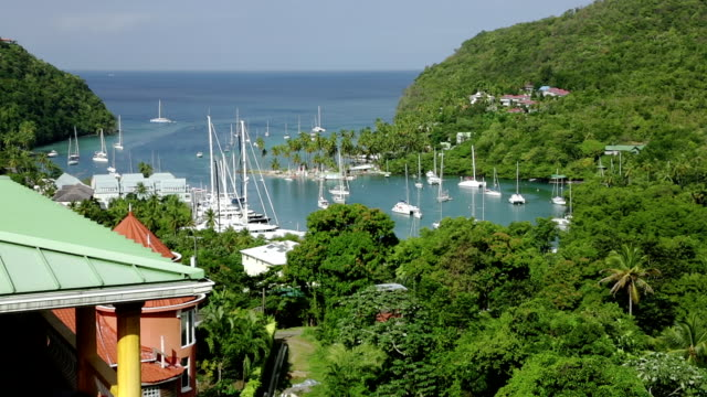 marigot bay in saint lucia - st lucia stock videos & royalty-free footage