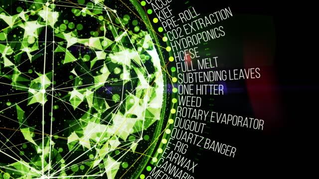 marijuana glossary terms - marijuana herbal cannabis stock videos and b-roll footage