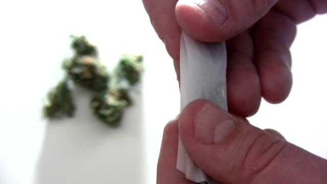 marijuana - rolling stock videos & royalty-free footage