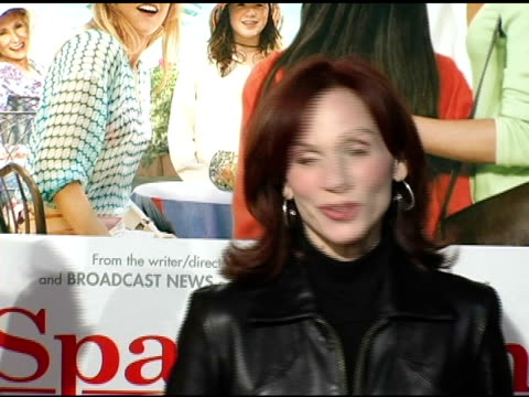 marilu henner at the 'spanglish' premiere at the mann village theatre in westwood california on december 9 2004 - spanglish stock videos and b-roll footage