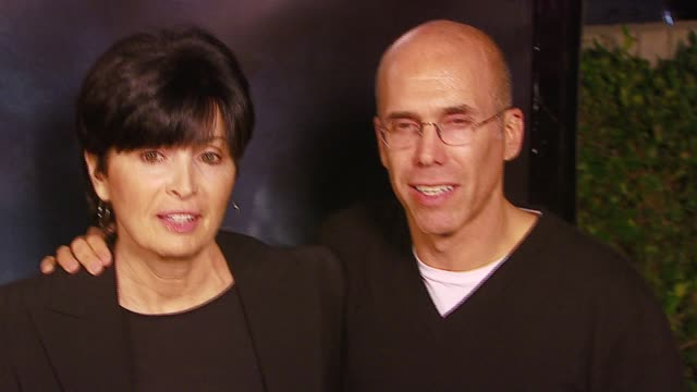 marilyn katzenberg and jeffrey katzenberg at the 'flags of our fathers' los angeles premiere at academy of motion picture arts & sciences in los... - academy of motion picture arts and sciences video stock e b–roll