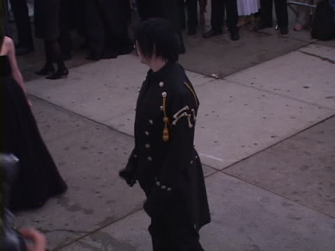 marilyn manson and dita von teese at the chanel costume institute gala at the metropolitan museum of art at in new york new york - dita von teese stock videos & royalty-free footage