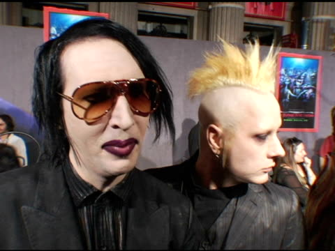 Marilyn Manson and Tim Skold on how their song for the movie will get a new generation of fans on his parodies and the trouble he can get into and on...