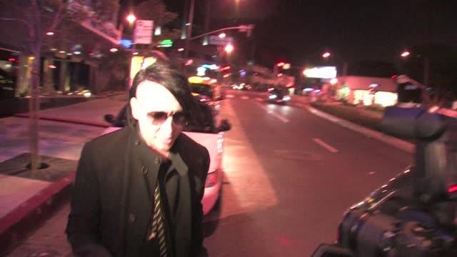 marilyn manson at trousdale in west hollywood on 12/1/2011 - マリリン マンソン点の映像素材/bロール