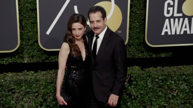Marin Hinkle and Tony Shalhoub at the 75th Annual Golden Globe Awards at The Beverly Hilton Hotel on January 07 2018 in Beverly Hills California