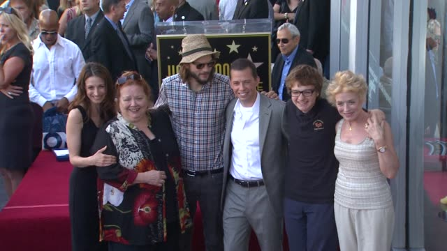 Marin Hinkle Conchata Ferrell Ashton Kutcher Jon Cryer Angus T Jones Holland Taylor at the Jon Cryer Honored With Star On The Hollywood Walk Of Fame...