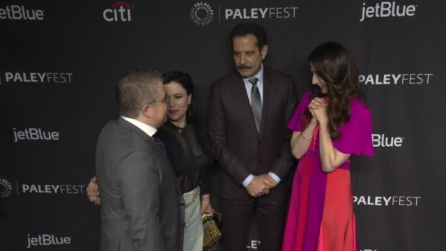 Marin Hinkle Tony Shalhoub Alex Borstein and Patton Oswalt at the Paley Fest The Marvelous Mrs Maisel at Dolby Theatre on March 15 2019 in Hollywood...