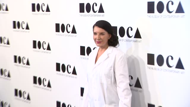 marina abramovic at the the museum of contemporary art los angeles presents the annual moca gala at los angeles ca - los angeles museum of contemporary art stock videos and b-roll footage